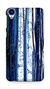 Amez designer printed 3d premium high quality back case cover forHTC Desire 820 (white blue pattern )
