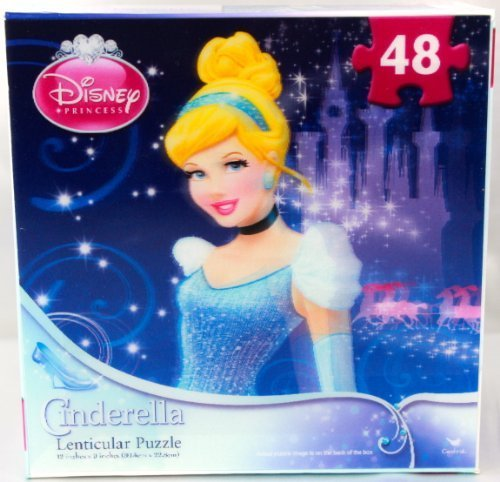 Disney Princess Cinderella Lenticular Puzzle 48 Pieces