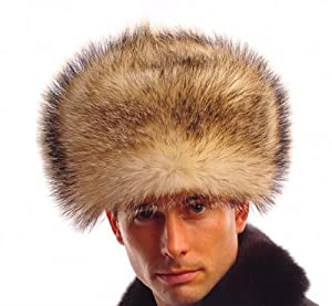 Men's Fin Raccoon Fur Russian Ushanka Hats Bomber Hats Brown Z88