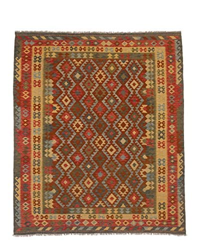 eCarpet Gallery One-of-a-Kind Kashkoli Kilim Rug, Copper/Yellow, 8' x 9' 7