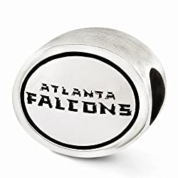 Officially Licensed Sterling Silver Antiqued Atlanta Falcons NFL Bead