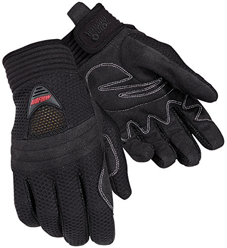 Tour Master Airflow Men's Textile Sports Bike Motorcycle Gloves - Black / 2X-Large