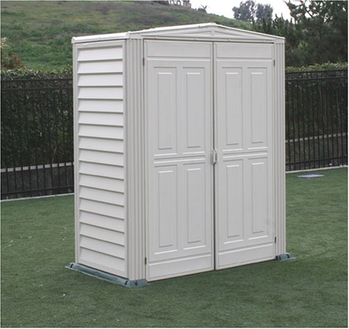 DuraMax Model 00911 5x3 YardMate Vinyl Storage Shed with floor