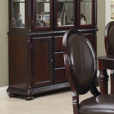 Cheap Aspermont Three Drawer Dining Buffet in Brown Cherry (103204B)