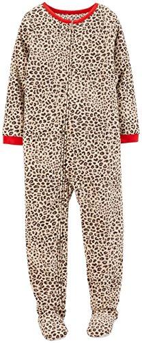 Carter'S Big Girls' Print Fleece Footie (Toddler/Kid) - Leopard - 10