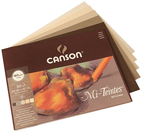 canson-mi-teintes-160gsm-pastel-paper-pad-size-24x32cm-includes-30-sheets-of-assorted-earth-tones