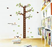 BUYINHOUSE Large Tree Height Measurement Growth Chart with Quote Wall Sticker Decal for Kids Room Measures 150cm or 5 Feet