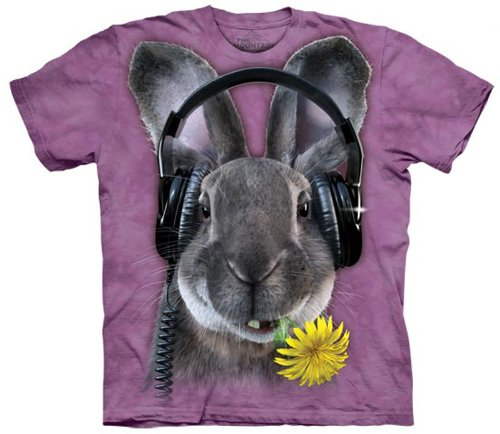 The Mountain Purple Rabbit Headphones Dj Hiphop Youth T-Shirt M