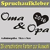Oma & Opa 2016 Spruch Styling Tuning Auto Sticker Aufkleber_SPR-029 (070 schwarz)