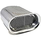 Assault Racing Products A8002-3 Polished Aluminum Hilborn Style Finned Hood Air Scoop Kit - Single 4 BBL Carb