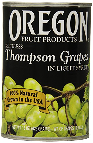Oregon Fruit Seedless Thompson Grapes in Light Syrup,