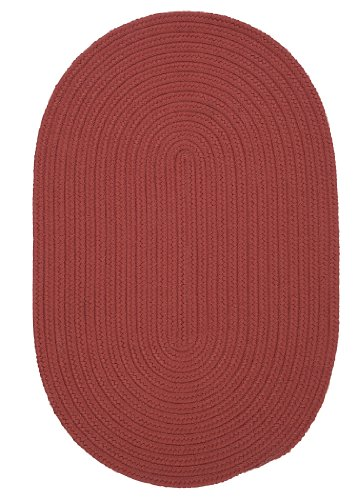 Boca Raton Polypropylene Braided Rug, 2-Feet by 3-Feet, Terracotta