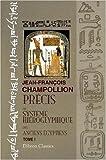 echange, troc Jean-François Champollion - Précis du système hiéroglyphique des anciens égyptiens: Tome 1