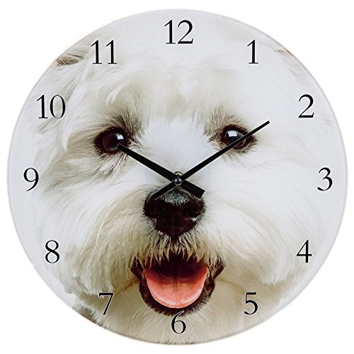 ukgiftstoreonline Dog Lover Wall Clock - Westie Dog