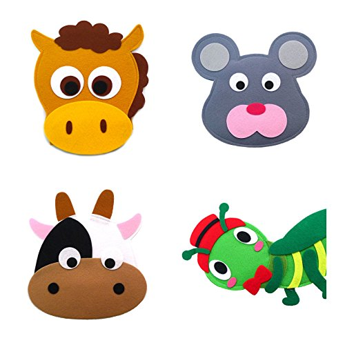 Animal Headband masks horse+mouse+cow+grasshopper