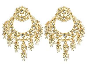 Jewellity Kundan Round Chandbalis With Pearl Lining For Women ERK-520
