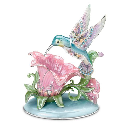 Lena Liu Porcelain Hummingbird Accent Lamp: