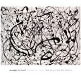 (26x32) Jackson Pollock Number 14 Gray Art Print Poster