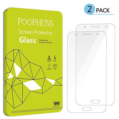 Verre Trempé Samsung Galaxy J5, POOPHUNS Protection écran Samsung Galaxy J5, 2 pack, ultra résistant Glass Screen Protector pour Samsung Galaxy J5