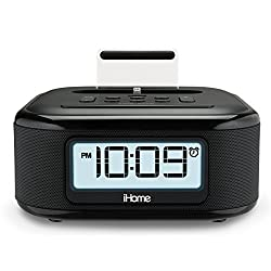 iHome iPL23 Stereo FM Clock Radio with Lightning Dock Charge/Play for iPhone 5/5S 6/6Plus