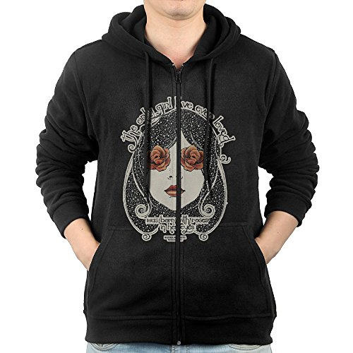 Men's Neutral Milk Hotel Full Zipper Pocket Hoody Large (Neutral Milk Hotel Hoodie compare prices)