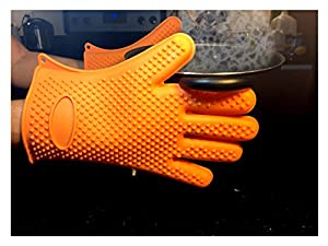 Silicone BBQ Gloves Cooking and Baking Is Easier with This Heat Resistance Oven Mitts - Men and Women Love Cooking with This Great Kitchen Gadget - Use As Grilling, High Quality Materials, Fits Most, Best Lifetime Guarantee