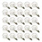 G40 Bulbs Clear Glass Candelabra Scre...