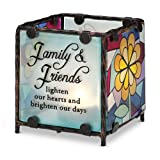 Shine On Me By Pavilion Glass Candle Holder Family Sentiment 3 By 3-Inch