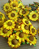 50 Sunflowers Mulberry Flowers Scrapbooking Embellishment