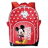Mickey Mouse-Mochila con diseño de Mickey Mouse, color rojo