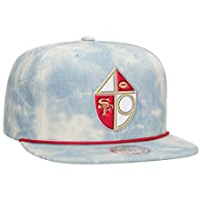 San Francisco 49er's NFL Lite Acid Wash Denim Snapback Cap by Mitchell & Ness