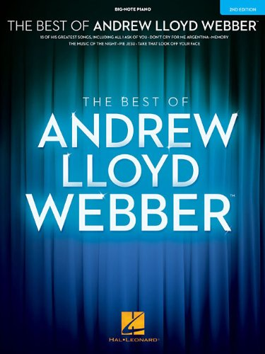 The Best of Andrew Lloyd Webber - Big Note Piano (Andrew Lloyd Webber Sheet Music compare prices)