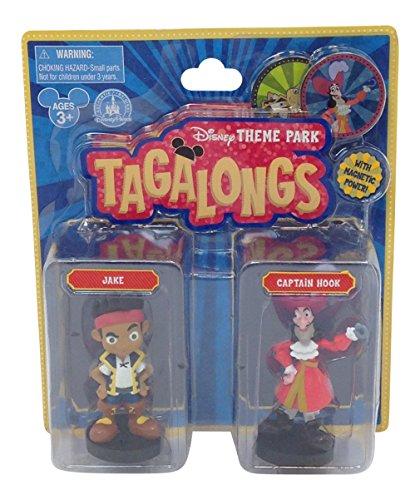 Disney Parks Pirates Captain Hook Jake Tagalong Plastic Figurine Set of 2 - 1