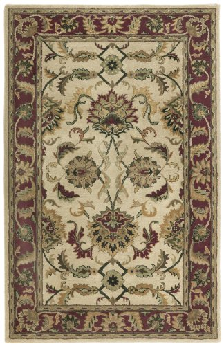 Check Price St Croix Trading Hand Made Wool Traditional Beige Agra 5x8 Foot Rug Lillysceusajzq
