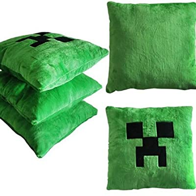 Sclm Minecraft Funny Creeper Green Pillow Cushion 15 X 15 Inchs from SCLM