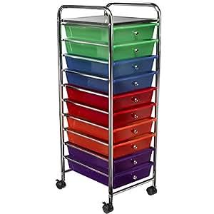 saganizer rolling cart 10 drawer rolling organizer high quality storage cart home. Black Bedroom Furniture Sets. Home Design Ideas
