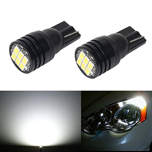 JDM ASTAR Extremely Bright 3020 Chipsets 168 175 194 2825 W5W T10 LED Bulbs For License Plate Lights, Xenon White( Best license plate lights on the market) (Piaggio Fly 50 Spark Plug compare prices)