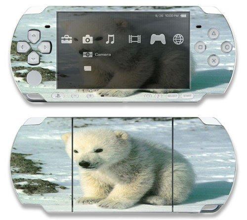 Baby Polar Bear Cub Decorative Protector Skin Decal Sticker for Sony Playstation PSP 1000 Portable System