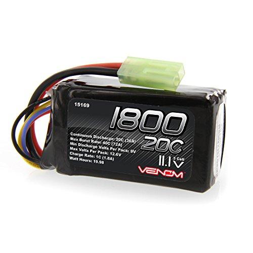 Venom 20C 3S 1800mAh 11.1V LiPO Battery Mini Tamiya Plug Parrot AR Drone