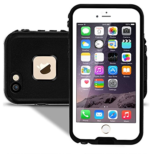 Waterproof Case for iPhone 6/6s,Thin Bumper - Fingerprint Touch ID Scanner Available(White)