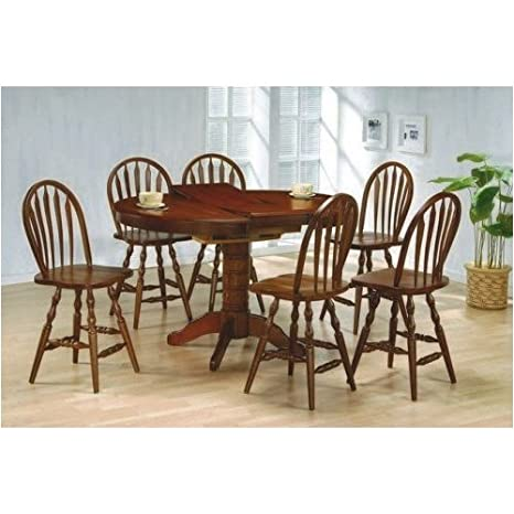 FREESHIPPING! 5pc Solid Wood Counter Height Dining Table and Windsor Bar Stools Set