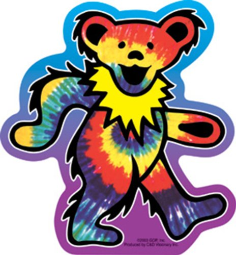 Licenses Products Grateful Dead Tie Dye Bear Sticker