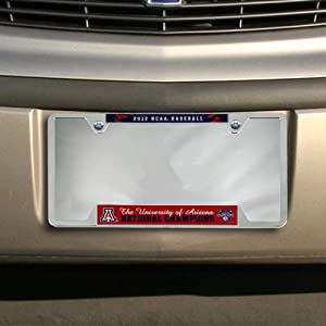 NCAA Arizona Wildcats 2012 NCAA Men's College World Series Champions Metal License Plate Frame ()