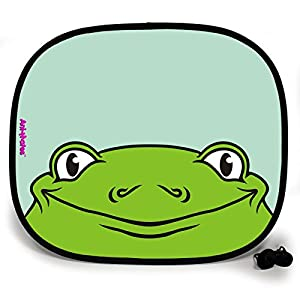 123t ANI-MATES FROG PLAIN Baby/Child Vehicle Sunshade x 1 birthday funny gift for him for her