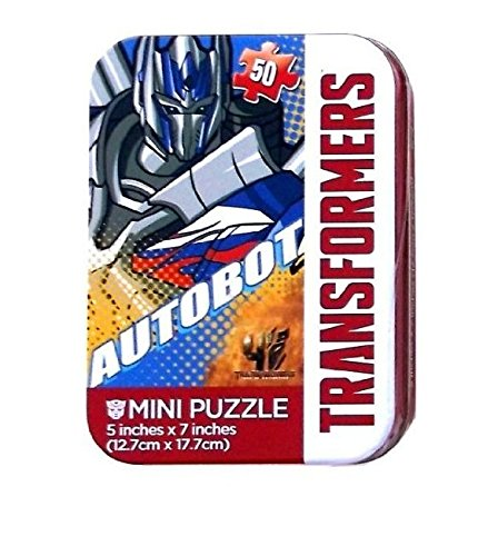 Transformers Autobot Mini Travel Puzzle in Collectible Tin - 50 Pieces - 1