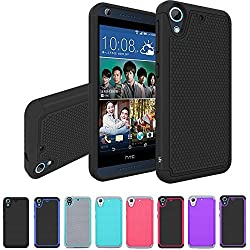 HTC Desire 626 / 626s Case, LK [Shockproof] Hybrid Dual Layer Armor Defender Protective Case Cover for HTC Desire 626 / 626s (Black)