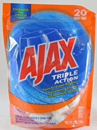 Ajax Triple Action Dishwasher Detergent Packs, Fresh Scent, 2 Packs or 20 Tabs