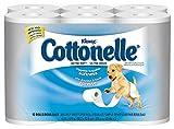 "Kimberly-Clark Kleenex Cottonelle 12456 Ultra Soft Bath Tissue, 4-3/16"" Length x 4"" Width, White ("