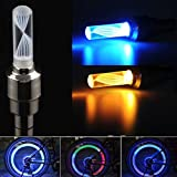 4X Vehicle 7-Color Changing Tire Valve Stem Covers Flashing LED Lights Kit