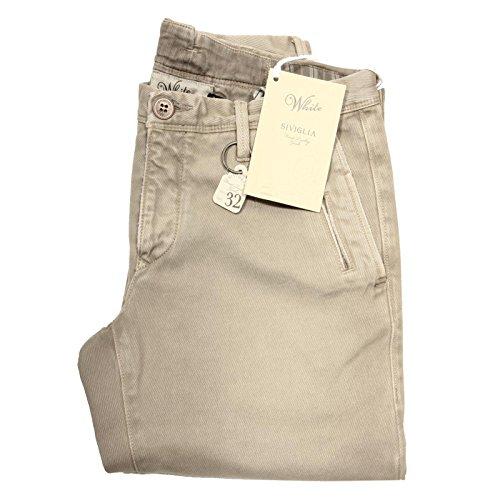 46000 pantalone SIVIGLIA WHITE jeans uomo trousers men [30]